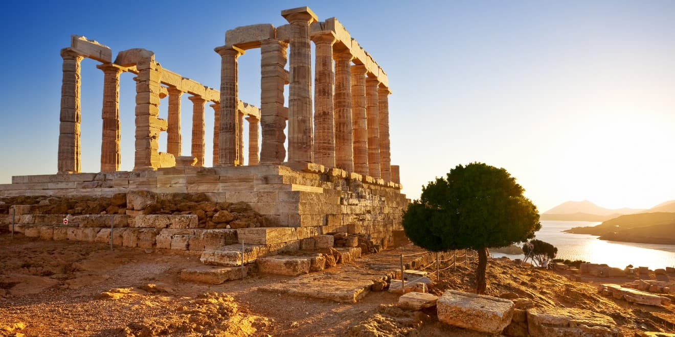 Poseidon-Tempel am Kap Sounion, Griechenland